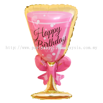 Foil Birthday Glass 93x54CM
