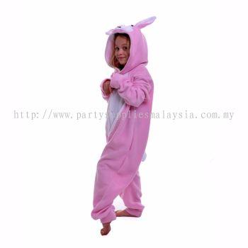 Kids pink bunny jumpsuit / pyjamas
