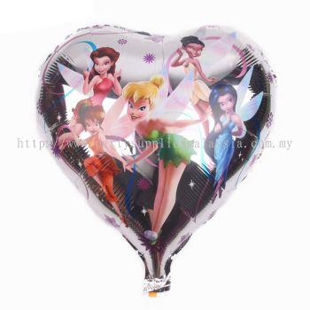 """Foil 18"""" Tinker bell -Heart"""