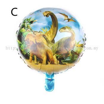 """Foil 18"""" Dinosaur Group - Green"""