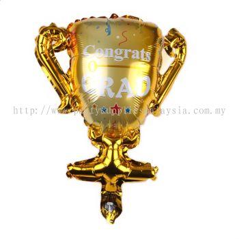 """Foil 18"""" congrats grad trophy"""