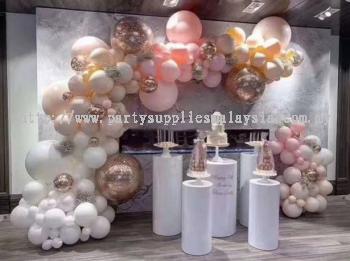 White Metal Flower Stand / Cylinder pillar