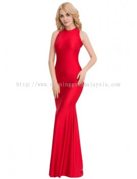 Dinner Gown (Long Red Body Fit Gown 048)