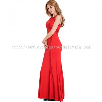 Dinner Gown (Red Long Gown 046)