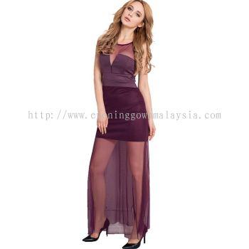 Mesh Long Gown 015
