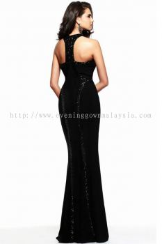 Dinner Gown (Long Black Body Fit Gown 038)
