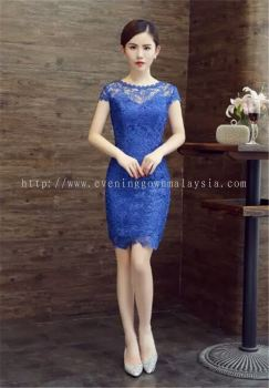 Dinner Gown (Dinner Dress Short Blue 006)