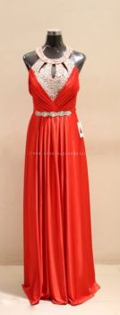 Dinner Gown (Evening Red Sequence Gown 023)