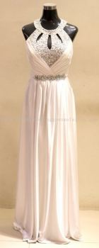 Evening White Sequence Gown