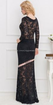 Dinner Gown (Evening Gown Black lace 021)