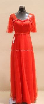 Dinner Gown (Dinner Dress Long Red 022)