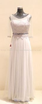 Dinner Gown (Dinner Dress White Long 020)