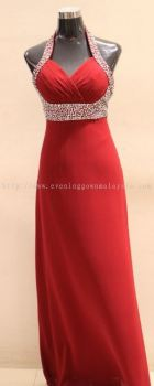 Dinner Gown (Dinner Red Dress Long 005)