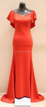 Dinner Gown (Long Dinner Gown Red 002)