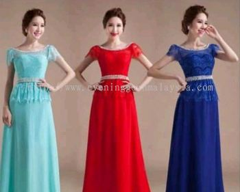 Long Gown Short Sleeve