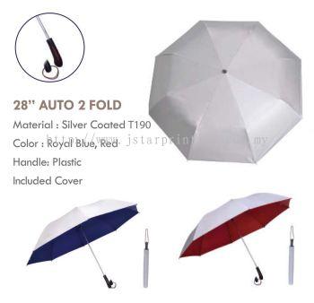 Umbrella 28 Auto 2 Fold