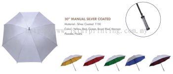 Umbrella 30 Manual Silver Coated