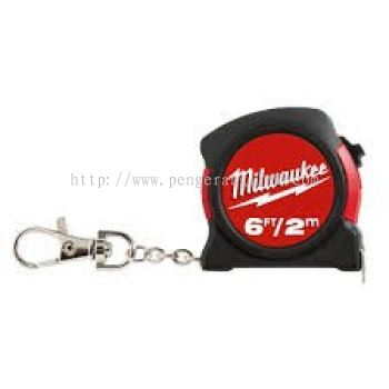 MILWAUKEE 48-22-5506 ( 2MTR ) KEYCHAIN MEASURING TAPE
