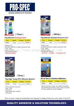 Pro-spec adhesive glue