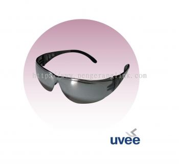 Uvee 7182sm smoke mirror safety glasses