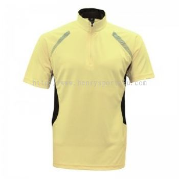 Lefonse Microfiber Mock Neck Zip( M30-10 )YELLOW