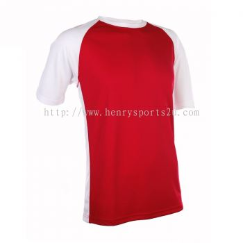 QD3605 Oren Sport Quick Dry Round Neck RED with WHITE