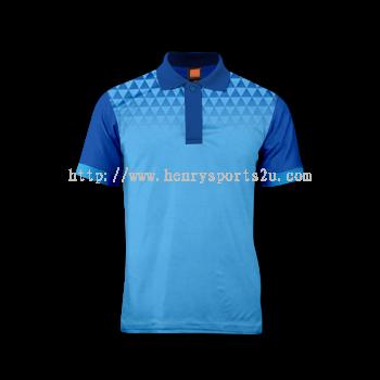 QD4428 Oren Sport Quick Dry Collar Tshirt SEA BLUE with ROYAL