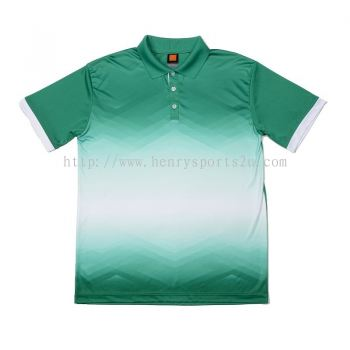 QD4566 Oren Sport Quick Dry Collar Tshirt MILO GREEN with WHITE