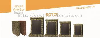 BG775 Plaque & Velvet Box Souvenir