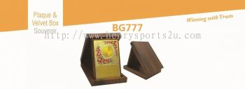 BG777 Plaque & Velvet Box Souvenir