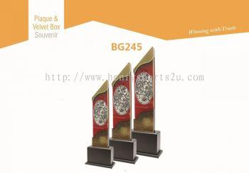 BG245 Plaque & Velvet Box Souvenir