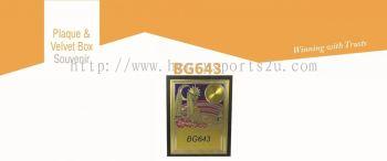 BG643 Plaque & Velvet Box Souvenir
