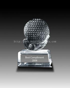 CRT904 Crystal Trophy_Golf