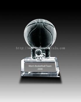 CRT905 Crystal Trophy_Basketball