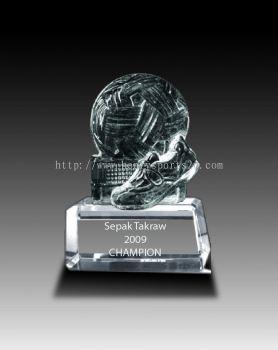 CRT906 Crystal Trophy_Takraw