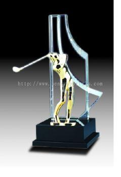 CGH015 Crystal Trophy_Golf
