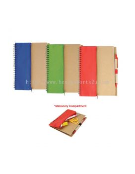 ENB3840 Eco Notebook With Pencil Case