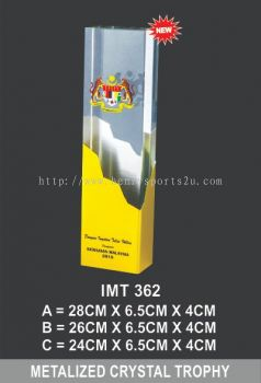 IMT 362 METALIZED CRYSTAL TROPHY