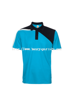 QD5828 Oren Sport Quick Dry Collar Short Sleeve Plain Tee