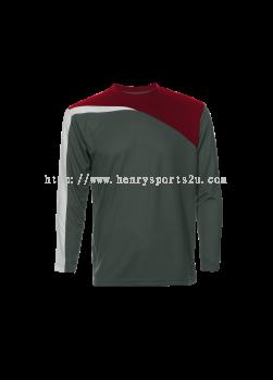 QD5924 Oren Sport Quick Dry Round Neck Long Sleeve Plain Tee