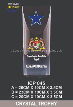 ICP 045 CRYSTAL PLAQUE