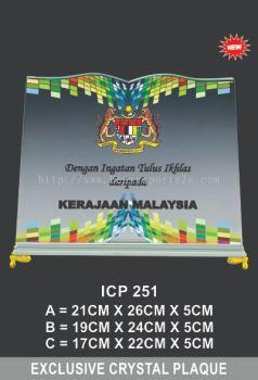 ICP 251 CRYSTAL PLAQUE