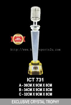 ICT 731 EXCLUSIVE CRYSTAL TROPHY