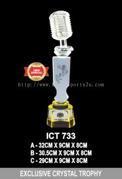 ICT 733 EXCLUSIVE CRYSTAL TROPHY