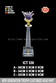 ICT 330 CRYSTAL CUSTOMIZE HEAD TROPHY
