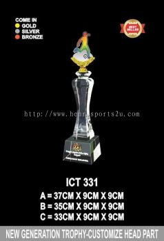 ICT 331 CRYSTAL CUSTOMIZE HEAD TROPHY