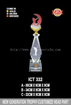 ICT 332 CRYSTAL CUSTOMIZE HEAD TROPHY