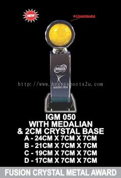 IGM 050 FUSION CRYSTAL METAL AWARD