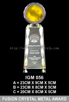IGM 056 FUSION CRYSTAL METAL AWARD