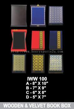 IWW 100 WOODEN & VELVET BOOK BOX